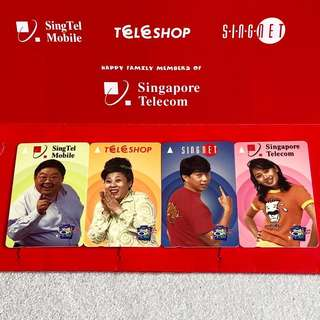 Phone Cards Vintage Public Phone Card Telephone Card Phonecard Collection SingTel Mobile Singapore Telecom TeleShop SingNet Phone Card