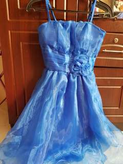 Simple blue gown