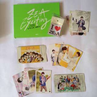 ZE:A official album exciting zea rare and normal star card set siwan taehoon siwan kevin hangul name tag