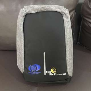 Anti theft backpack black bag NEW