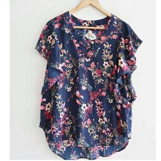 A New Approach Blouse Navy Flower
