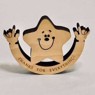 Wooden Toy Wooden Star ⭐️ Figurine Stand Figurine Display Collectible Figurine Limited Edition Miniature Figurine Home Decor Hand Craft Wood Wording Design