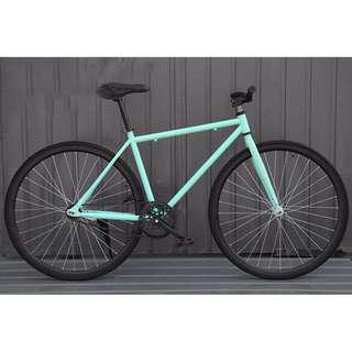 Teal fixie with black rim (free delivery)