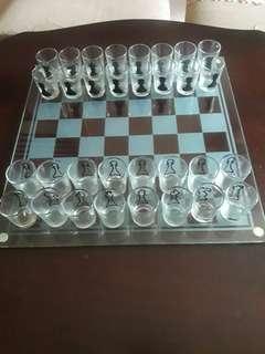 Glass Drinking Chess Set