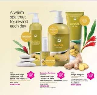 Nutrimetics Ginger Body Wash Cream & Hair Spa