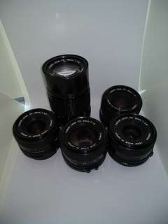 Canon FD lenses, excellent condition, various prices