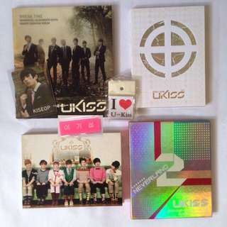 U-Kiss official album and photocard kiseop photo card sticker set hangul name tag signed autographed album only one