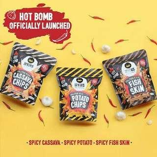New!!! Hot Bomb Snack Irvins Salted Egg 230gr