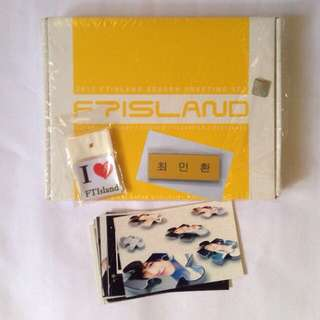 Ft island Season greeting - journal diary postcard set calendar l holder official poster tag photocard hangul nametag choi minhwan