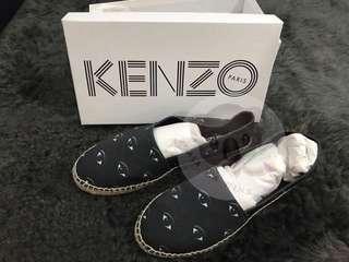 Kenzo 20mm Eyes Cotton Canvas Espadrilles Size 41 (EU)