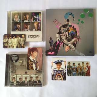 Shinee official album and photocard tag taemin minho group photocard photo card