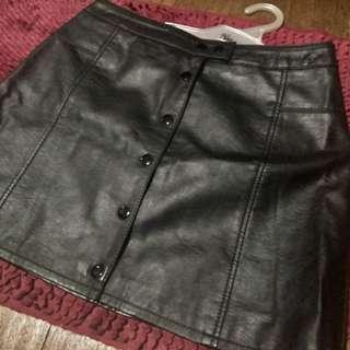 H&M original leather skirt