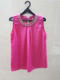 Pink Sleveless Top