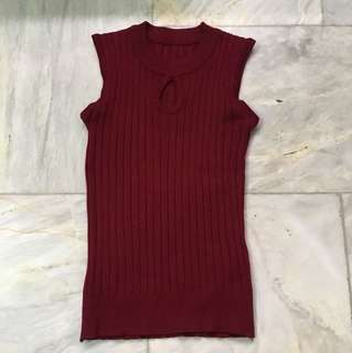 Keyhole Knitted Top