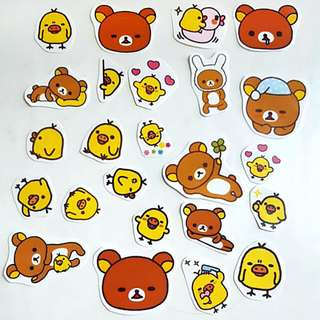 🚚 Rilakkuma and Duck Stickers