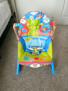 Baby rocker bouncer baby music chair