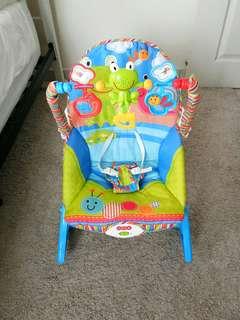 Baby rocker bouncer baby music chair