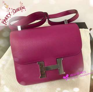 全新Hermes Constance 24cm  L3 Rose Pourpre 💖💕💖 Evercolour with PHW (這色沒有出金扣) 用家價$8xxxx🎉🎉🎉 Full set with original receipt  Please inbox💌for more details❤️ Thanks😘