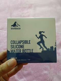BNIB Collapsible Silicone Water Bottle 320 ml