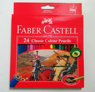Pensil warna Faber Castell Classic 24