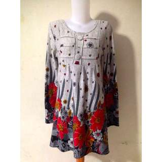 Grey pattern dress