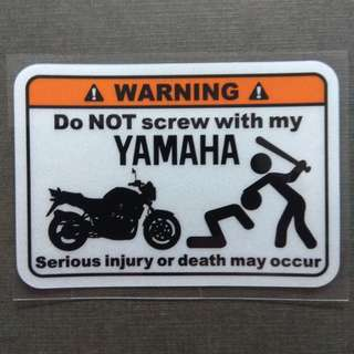 Do Not Screw My Yamaha Sticker Decal Motorbike