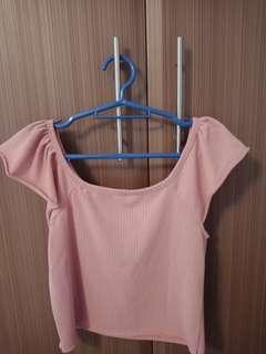 Pink Off-shoulder/Tank Top