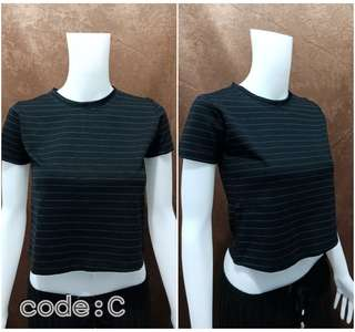 Strips Tshirt Crop top C