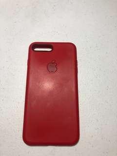 iPhone 7/8 plus case (red silicone)