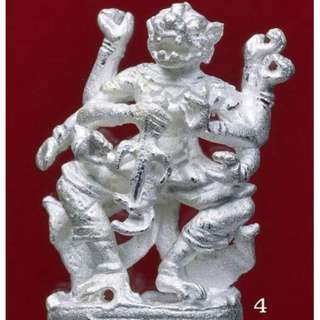 925 Silver Hanuman in silver case - LP Lae of Wat Prasong (Late legendary master who is most famous in Thailand for his Hanuman magic)
