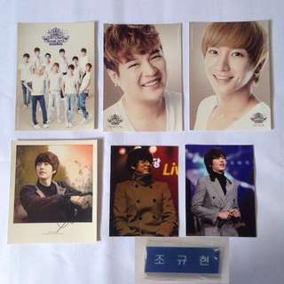 Super junior official postcard set - kyuhyun leeteuk shindong tag photocard hangul nametag