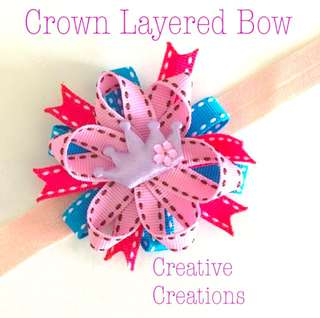 <Ready Stock> Multicolored Crown bow Baby Headband