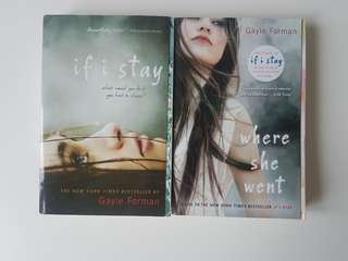 """""""If i Stay"""" and """"Where she went"""" by Gale Forman novels"""