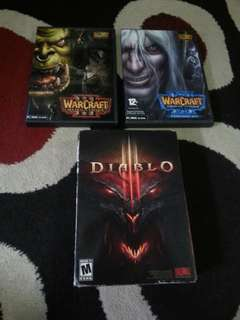 Diablo3 Warcraft3 pc game bundle