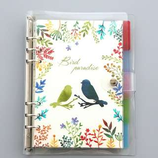[PO] #1 Customisable 6 ring binder notebook nature set (A5/A6)
