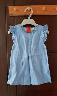 Dress bahan jeans tipis ukuran M