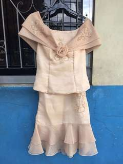 (Item is reserved till July 25) Filipiniana overall (FOR RENT)