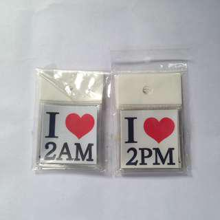 2AM and 2PM I ♥️ sticker sets