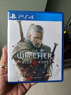 PS4 The Witcher 3