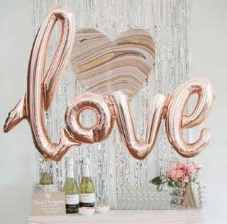 Love foil balloons