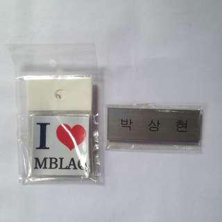 MBLAQ I ♥️ sticker set with Chundoong hangul nametag