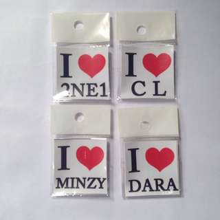 2NE1 I ♥️ sticker set tag photocard photo card cl dara sandara