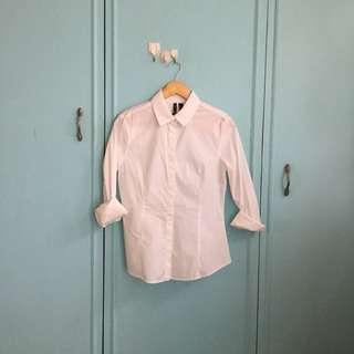 Mango white buttondown blouse