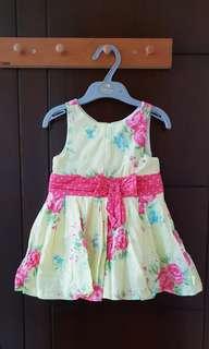 Pretty dress size 12-18 bulan