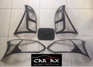 Toyota Avanza head light tail light covers black