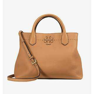 TORYBURCH mcgraw triple compartment satchel
