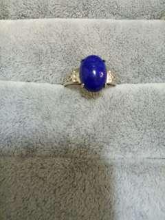青晶石戒指(925銀活動戒圍)
