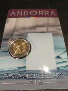安道爾 Andorra 30周年 2 歐元(已包裝)