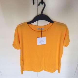 Brandnew Zara Yellow Top