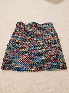 Knit mini skirt sz 6-8